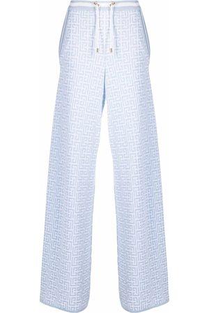 Balmain Drawstring palazzo trousers