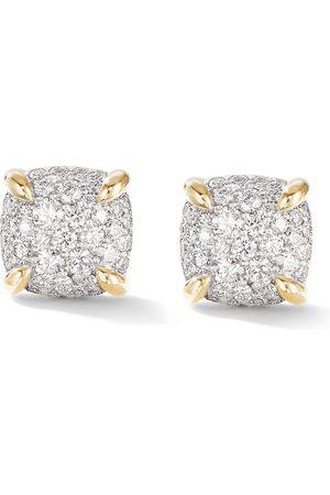 David Yurman 18kt yellow 8mm Châtelaine 8mm diamond pavé earrings