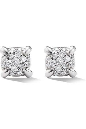 David Yurman 18kt white gold Chatelaine diamond stud earrings
