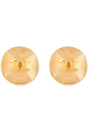 CHANEL 1993 CC button clip-on earrings