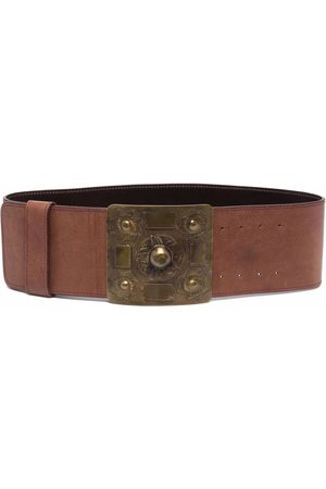 Gianfranco Ferré 2006 studded buckle leather belt