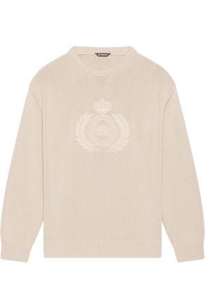 Balenciaga Embroidered-design long-sleeve jumper