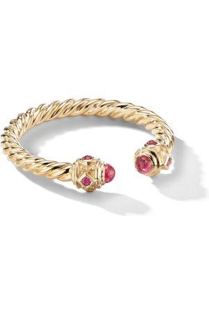 David Yurman 18kt yellow 2.3mm Renaissance ruby ring