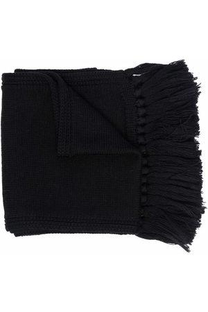 VERSACE Medusa frayed-edge wool scarf