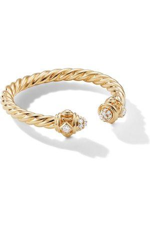David Yurman 18kt yellow 2.3mm Renaissance diamond ring