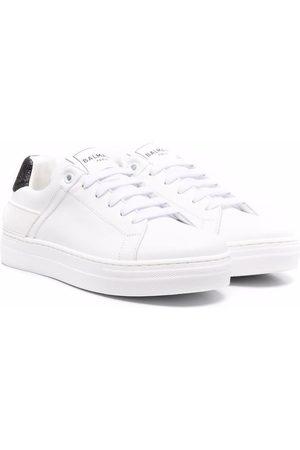 Balmain Glitter heel-counter sneakers