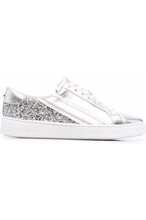 Michael Kors Slade glitter lace-up trainers