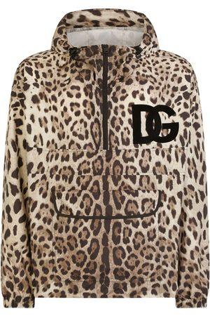 Dolce & Gabbana Men Sports Jackets - DG logo-patch leopard-print jacket