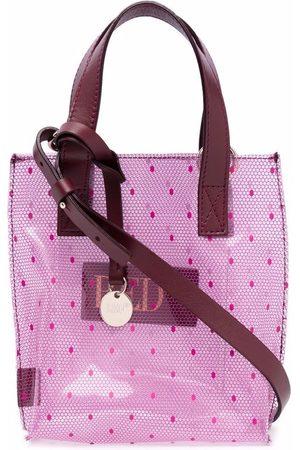 RED(V) Point d'esprit mesh-print mini bag