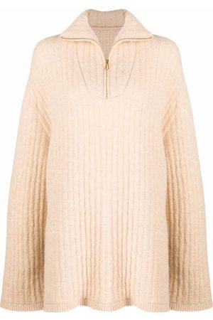 Nanushka Ribbed-knit high-neck jumper