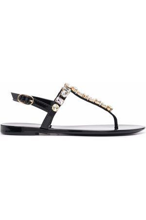 Stuart Weitzman Jaide gem jelly flat sandals