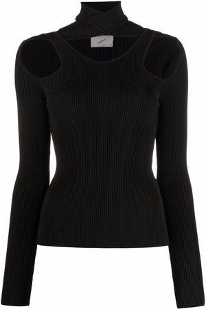 COPERNI Cutout-detail knitted top