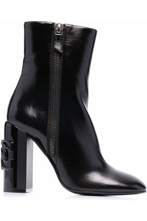Casadei C-Chain leather ankle boots