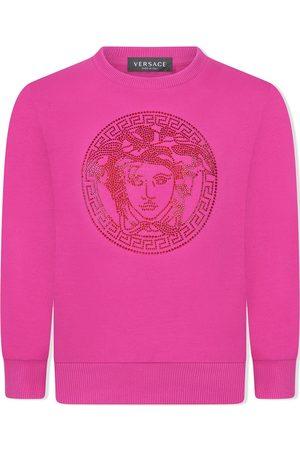 VERSACE Rhinestone Medusa-head sweatshirt