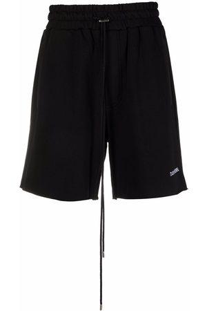 DOMREBEL Logo-embroidered track shorts