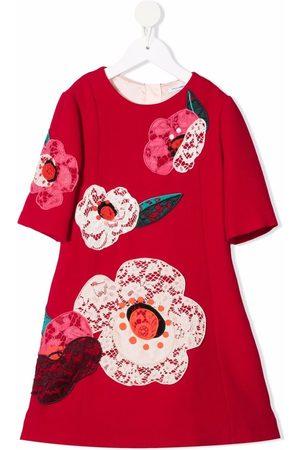 Dolce & Gabbana Floral-appliqué A-line dress