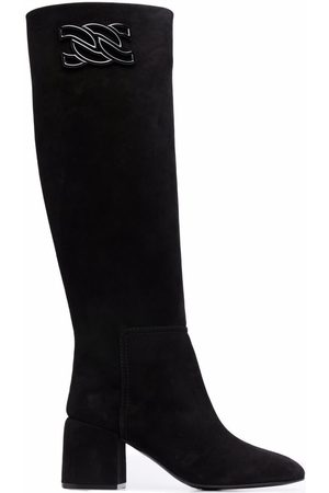 Casadei C-Chain knee-length boots