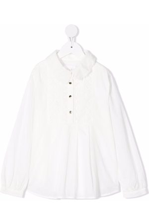 Chloé Kids Embroidered cotton blouse