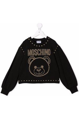 Moschino Teddy bear-motif studded sweatshirt