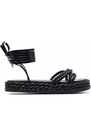 Karl Lagerfeld X Kenneth Ize rope sandals