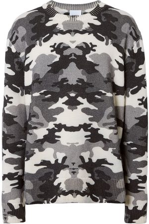 Burberry Camouflage-print knit jumper