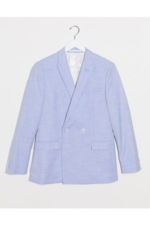 Topman Skinny double breasted suit jacket in