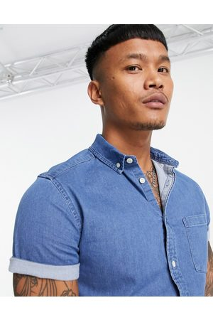 ASOS DESIGN Men Denim - Slim denim shirt in mid wash