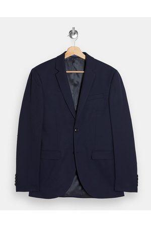 Topman Skinny single breasted suit jacket in navy