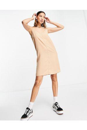 Noisy May Denim cami swing dress in -Neutral