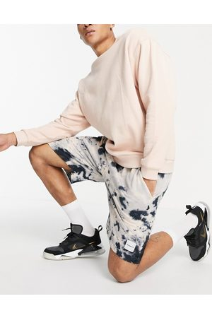 Mennace Co-ord jersey shorts in and navy tie dye-Neutral