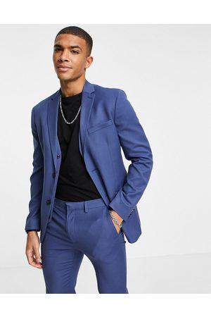 Topman Skinny single breasted suit jacket in blue