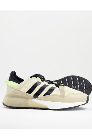 adidas Men Sneakers - ZX 2K Boost trainers with camo print in off