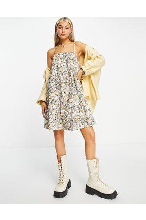 Object Mini strappy dress in ditsy print-Multi