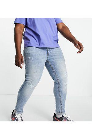 JACK & JONES Men Skinny - Intelligence Plus Tom super skinny jeans in lightwash