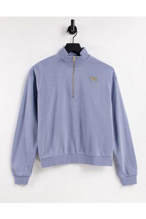 Nike Femme cropped fleece sweatshirt in slate