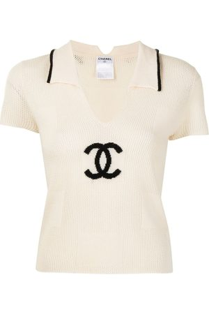 CHANEL 2001 CC knitted polo shirt