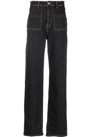 Bash High-rise straight-leg jeans