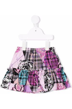 VERSACE Girls Printed Skirts - Patchwork-print skirt