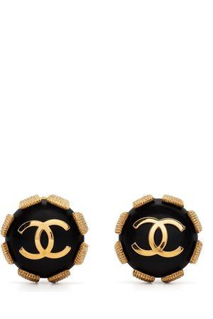 CHANEL Women Earrings - 1994 CC button earrings
