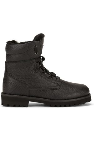 Dolce & Gabbana Pebbled-texture ankle boots