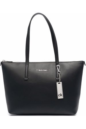Calvin Klein Faux leather logo-lettering tote