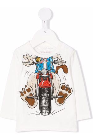 Stella McCartney Baby Long Sleeve - Doggie Rider-print sustainable cotton T-shirt