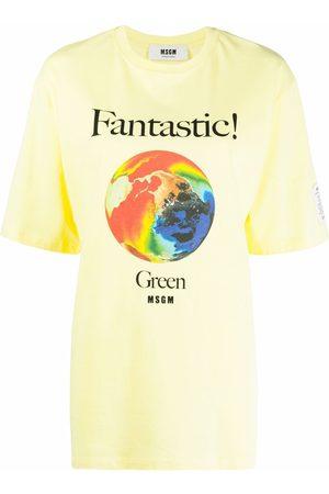 Msgm Graphic-print organic cotton T-shirt
