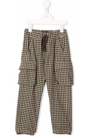 Il gufo Checked tapered cargo trousers
