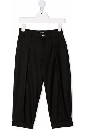Balmain Boys Formal Pants - TEEN wool-blend tapered trousers
