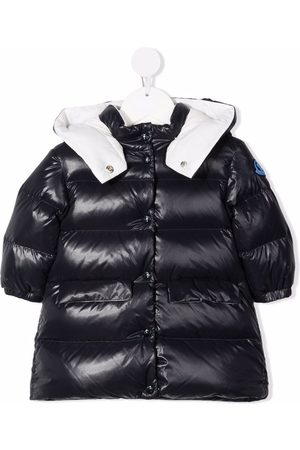 Moncler Baby Jackets - Hooded padded patch-detail jacket