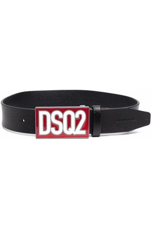 Dsquared2 Boys Belts - Logo-plaque leather belt
