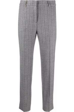 PESERICO SIGN Women Formal Pants - Striped tailored trousers
