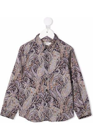 BONPOINT Boys Tops - Paisley-print cotton shirt