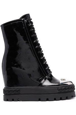 Casadei Women Lace-up Boots - Wedge lace-up boots